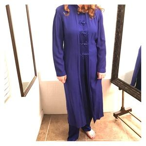 Plus size 16 Blue Asian Chinese 2 piece Suits XXL